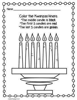 Kwanzaa Mini-Unit {Vocabulary, Printables & Booklet}