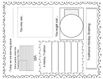 Kwanzaa Mini Unit with Printable Book and Craftivity-Common Core Aligned