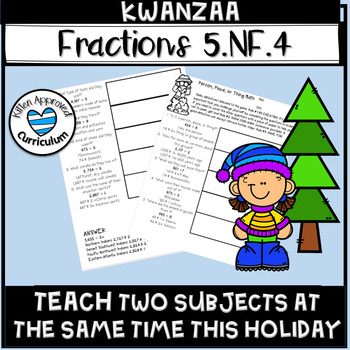 Kwanzaa 5th Multiply and Divide Fractions Math Activity Holiday