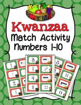 Kwanzaa Number Match Activity