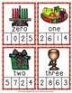 Kwanzaa Number Words Clip Cards