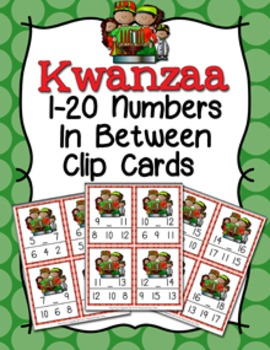 Kwanzaa Numbers In Between Clip Cards