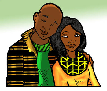 Kwanzaa People Clip-Art! 12  pieces B/W and COLOR!