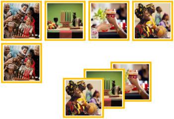 Kwanzaa Photo Matching Cards