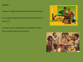Kwanzaa - Power Point - Full History Facts Celebration - 12 Slides