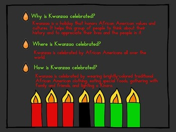 Kwanzaa Powerpoint - kindergarten, 1st, 2nd, or 3rd grade