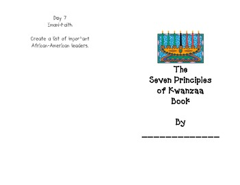 Kwanzaa Principles Book