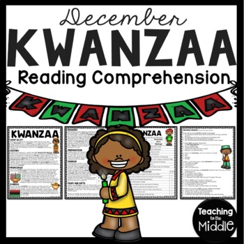 Kwanzaa Reading Comprehension Worksheet African American December Holiday
