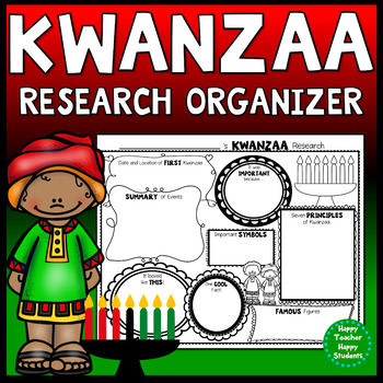 Kwanzaa Research Activity: Kwanzaa Graphic Organizer