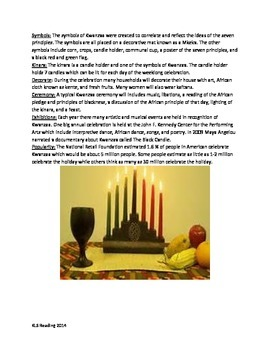 Kwanzaa - Review Article all the facts history with questions and activities