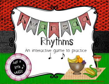 Kwanzaa Rhythms - Interactive Reading Practice Game {tom ti}