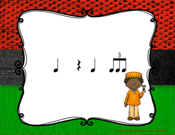 Kwanzaa Rhythms - Interactive Reading Practice Game {triple ti}