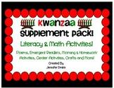Kwanzaa Supplement Pack!  Literacy & Math Activities!  Fun & CC Aligned!