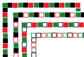 Kwanzaa Themed Block Borders