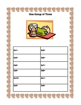 Kwanzaa  Themed -Times Tables 1-4-Sequenced Printable Worksheets
