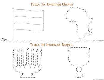 Kwanzaa Tracing - Prewriting & Writing Center Activities