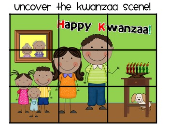 Kwanzaa Uncover the Picture Math & Literacy Games Pack
