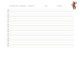 Kwanzaa Volunteer Sign Up Sheet
