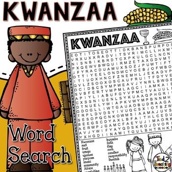 Kwanzaa Word Search Activity