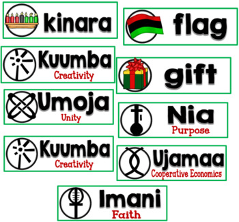 Kwanzaa Word Wall Cards Set