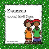 Kwanzaa Word Wall Signs