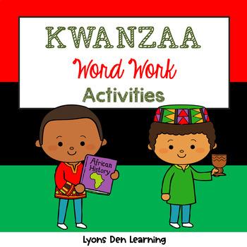 Kwanzaa Word Work Activities