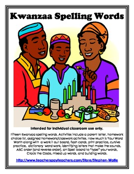 Kwanzaa Words and Activity Packet