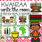 Kwanzaa Write the Room - 16 cards four versions, four recording sheets