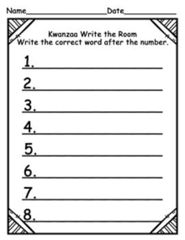 Kwanzaa Write the Room