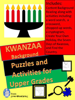 Kwanzaa for Upper Grades: Content Reading,  Puzzles, and Activities