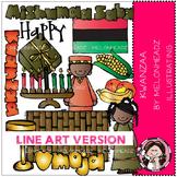 Kwanzaa clip art - LINE ART - by Melonheadz