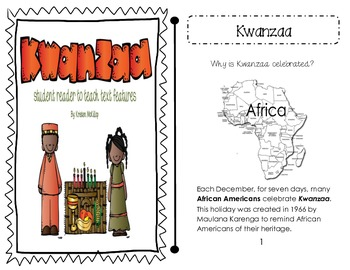 Kwanzaa - nonfiction student reader to teach text features