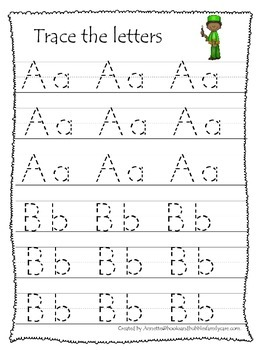 Kwanzaa themed A-Z tracing preschool educational worksheet