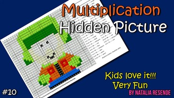 Kyle - Multiplication Mystery Picture - Fun Math