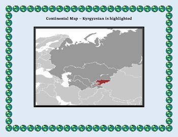 Kyrgyzstan Geography Maps, Flag, Data, Assessment - Map Skills Data Analysis
