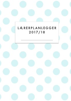 Lærerplanlegger 2017-18 - light blue