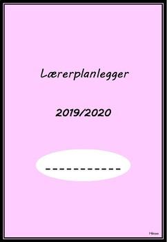 Lærerplanlegger 2019 - 2020 (rosa - med linjer)