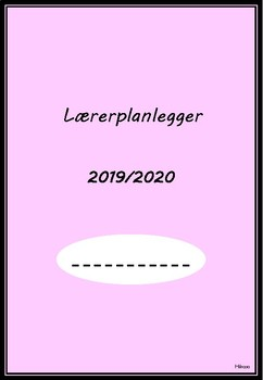 Lærerplanlegger 2019 - 2020 (rosa - uten linjer)