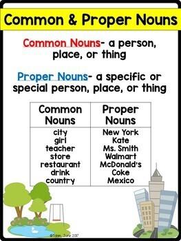 L.1.1.b- Common and Proper Nouns, Possessive Nouns | TpT