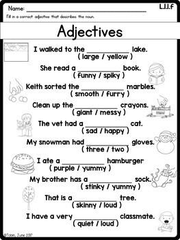 L.1.1.f- Adjectives
