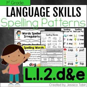 L.1.2.d, L.1.2.e Spelling Patterns