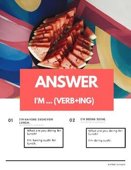 """What are you doing"" Present Progressive Pattern English (w Korean translation)"