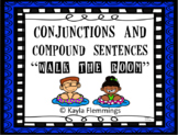 """L.1f Compound Sentences and Conjunctions """"Walk the Room"""" language game"""