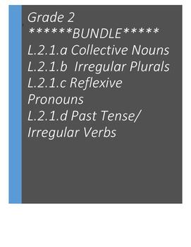 L.2.1 Reflexive Pronouns, Collective Nouns, Irregular Plurals, Past Tense BUNDLE