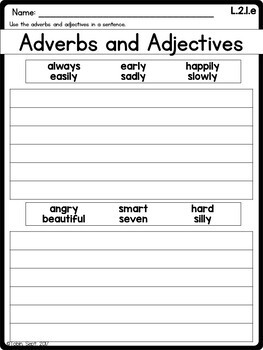 L.2.1.e Adjectives and Adverbs