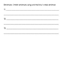 L.2.2.C Contractions Quiz
