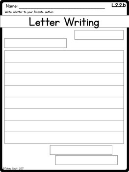 L.2.2.b Commas in Letters and Greetings; Letter Writing