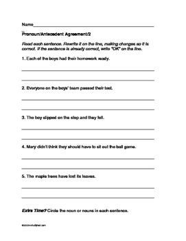 L.3.1.f Ensure subject-verb and pronoun-antecedent agreement