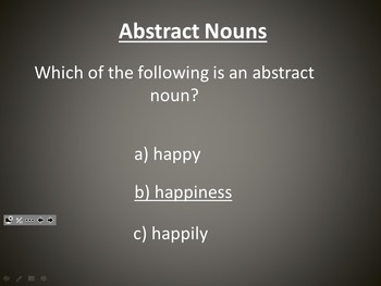L.3.1c Abstract Nouns PowerPoint Practice