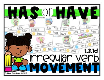 L.3.1d - Has or Have - Irregular Verb - Movement Interactive Review Game